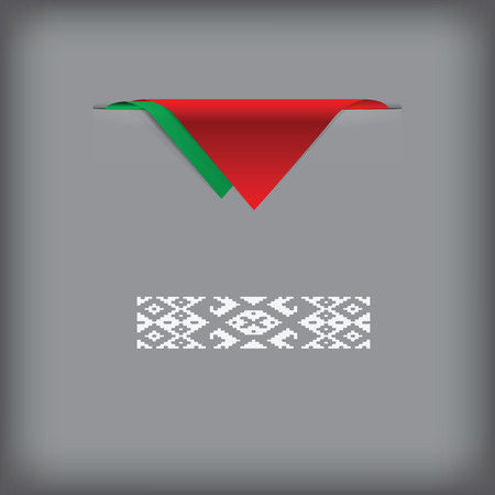 State symbols of Belarus. Vector illustration without trace.