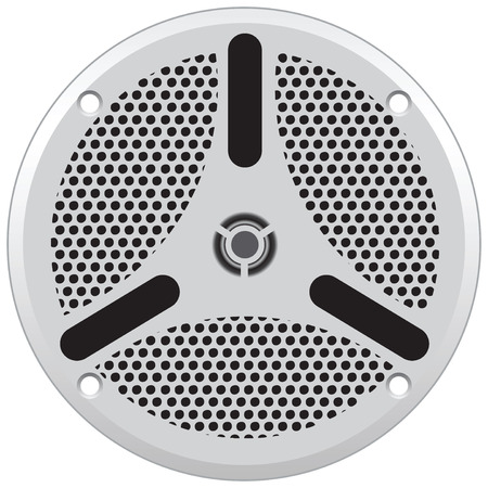Loudspeaker for use in industrial industry in particular on ships. Vector illustration without trace. Stock Illustratie