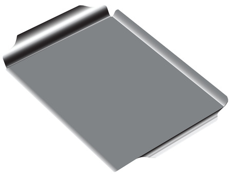 thumbnail: Steel rectangular grill pan drawing without thumbnail.