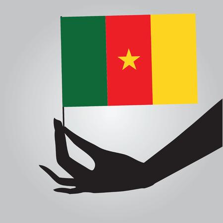Cameroon symbol of statehood - a flag. Vector illustration. Ilustrace