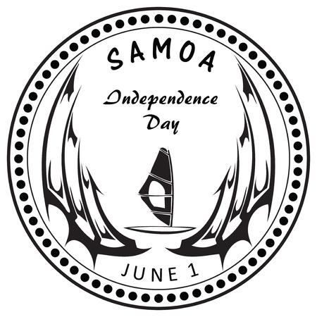 samoa: Independence Day State of Samoa. Vector illustration without trace.