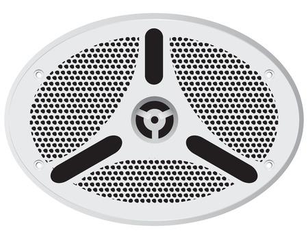 talker: Sealed modern ship speaker oval. Vector illustration. Illustration