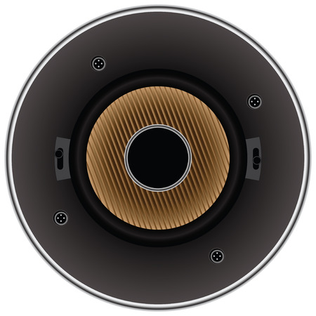 Sound dynamic loudspeaker for a modern stereo system. Vector illustration. Vector
