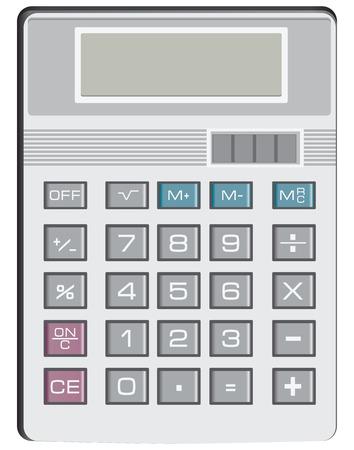 operations: Calculatrice pour des op�rations arithm�tiques simples. Vector illustration.