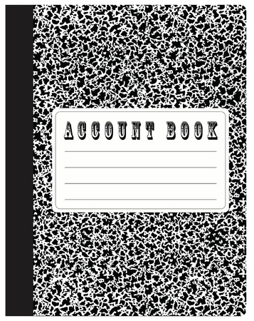 Account book standard size for fixing the financial transactions. Vector illustration. Vettoriali