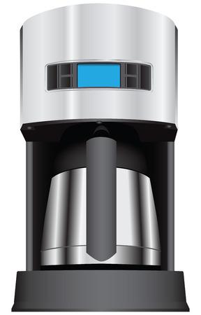 coffee maker: Cafetera con la pantalla.