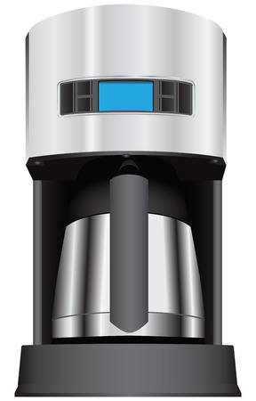 Coffee maker with the display.  Vector