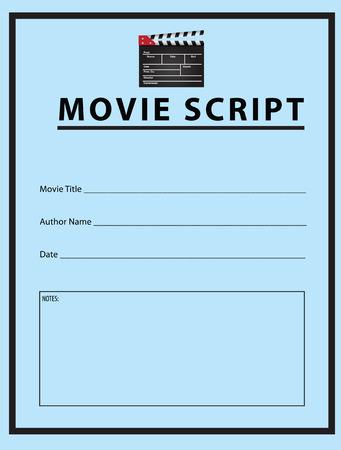 Werkboek voor de film script. Vector Illustratie