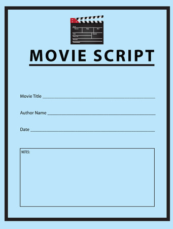 workbook: Workbook for the movie script.  Illustration