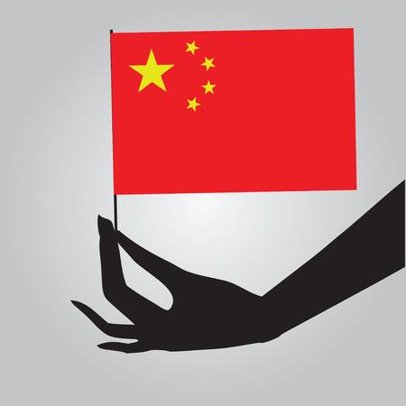 상태 - 깃발의 중국 상징입니다. 벡터 일러스트 레이 션.