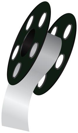 Industrial wide tape on a reel. Vector illustration. Illustration