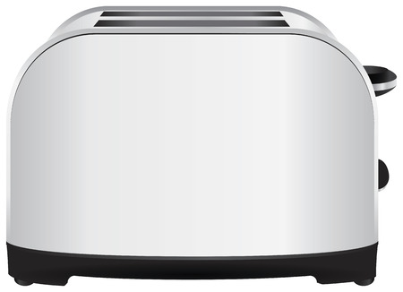 Home cooking table for bread toaster. Vector
