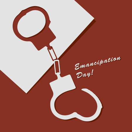 busted: Abstract illustration to Emancipation Day!