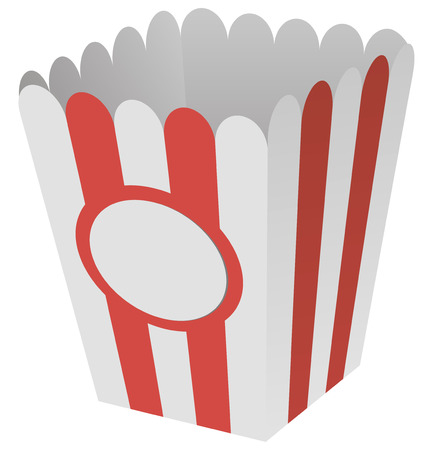 Boîte de pop-corn fait% u200b% u200Bof carton. Banque d'images - 29656577