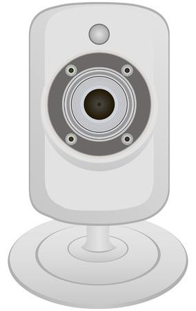 capturing: Miniature video camera for capturing and transmitting information. Vector illustration. Illustration