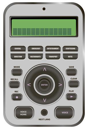 フレーズ音声の導入と言語電子辞書。ベクトルの図。