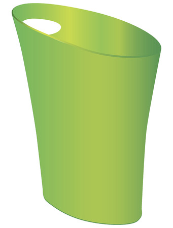 Bin for home and office from polypropylene. Vector illustration.