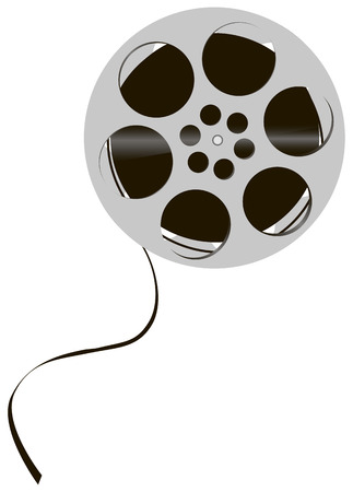Reel of film, pre-digital era of cinema. Vector illustration. Illustration