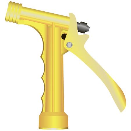 garden hose: Plastic tip garden sprayer garden hose. Vector illustration. Illustration