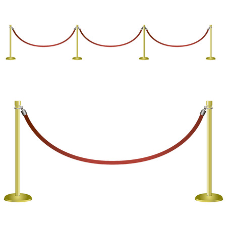 vip area: Restrictive barrier for social and festive events. Vector illustration.