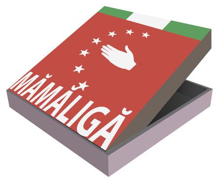 Box for the Abkhazia national food - Mamaliga Vector