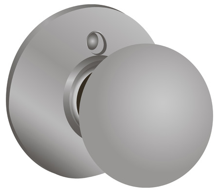 key hole: Door knobs for clip systems. Vector illustration. Illustration