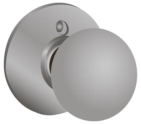 door knob: Door knobs for clip systems. Vector illustration. Illustration