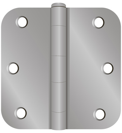 Industrial door fastening classical forms. Vector illustration.