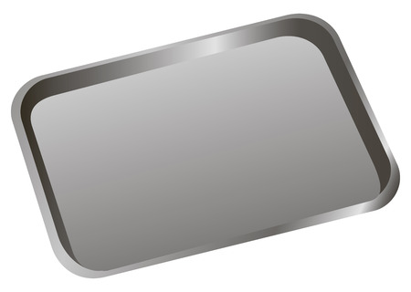 medical equipment: Stomatological tray to accommodate a dental tool. Vector illustration. Illustration