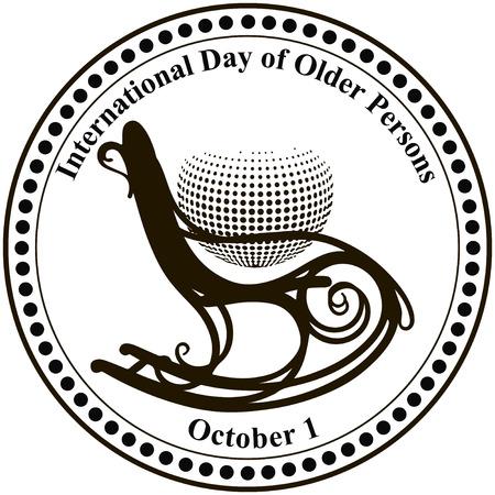 International Day of Older Persons. Vector illustration. Illustration