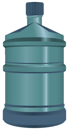 waterworks: Plastic big bottle for water closed. Vector illustration. Illustration