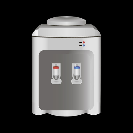Water dispenser hot and cold. Vector illustration. Illustration