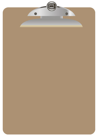 size: Clipboard Letter Size for attachment of standard paper. Vector illustration.