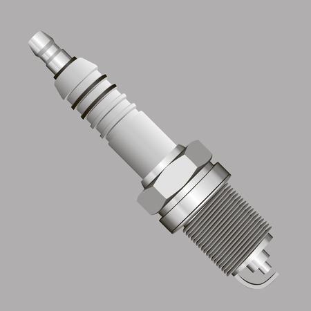 Spark Plug for motor vehicles. Vector illustration. Vector
