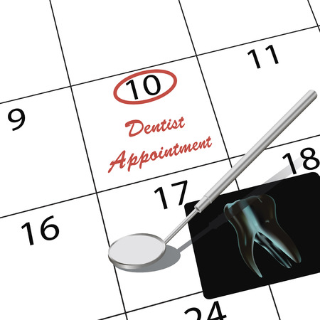 appointment: Appointment to the dentist in the calendar