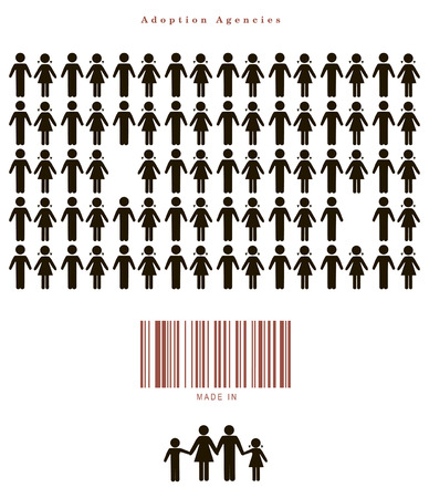 adoption: Proposal for adoption of different countries. Vector illustration.