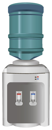 Water dispenser hot and cold. Vector illustration. Vector