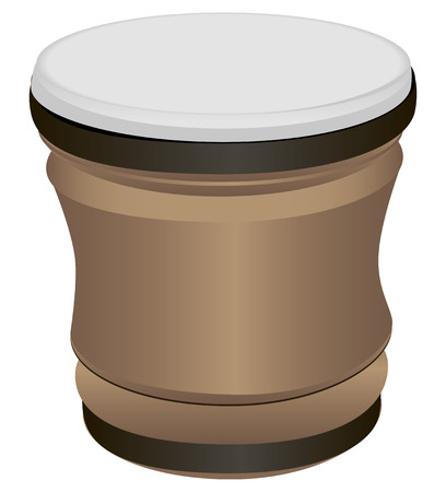 bongo drum: Bongo Drum - a musical percussion instrument of Latin American and African peoples. Vector illustration.