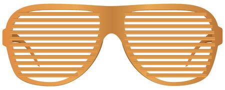 Plastic Frames for glasses shutters. Ilustracja