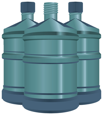 reusable: Large bottles of water for use in the office fountains.