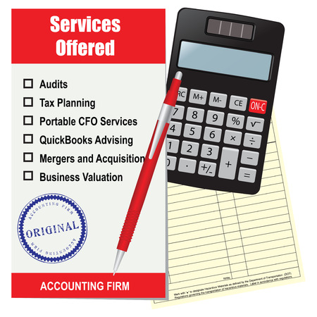 Accounting firm list of services.