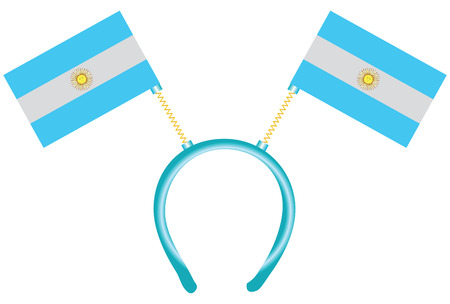 Cheerful headdress for the holiday with a flag Argentina. Vector illustration.