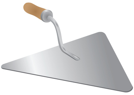 Trowel - a tool of the mason to work with cement mortar. Vector