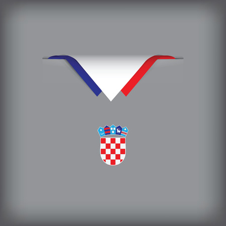 The combination of colors of the national flag Croatia. Vector illustration.