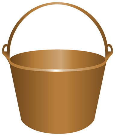Bucket for construction work metal. Vector illustration. 向量圖像