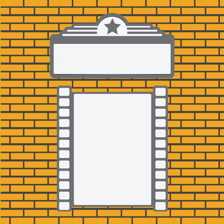 A place to put the movie poster. Vector illustration.  イラスト・ベクター素材
