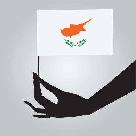 Cyprus symbol of statehood - a flag. Vector illustration. Фото со стока - 32151256