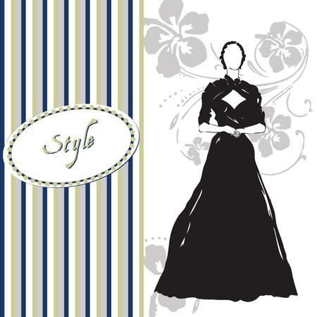 Wenskaart stijl van kleden. Vector illustratie. Stock Illustratie
