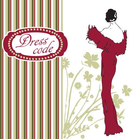 Stylish card for optimizing the dress code. Vector illustration.
