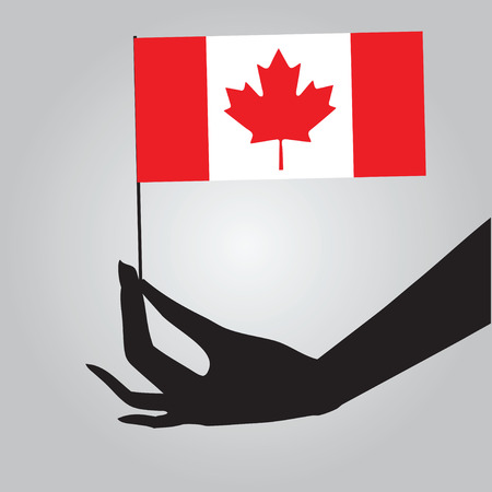 Symbol of statehood Canada - flag. Vector illustration.